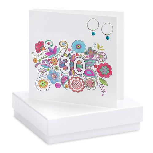 Boxed Boho 30th Earring Card