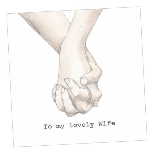 Holding Hands Wife Card