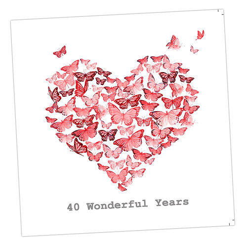 Butterfly 40th Anniversary Card