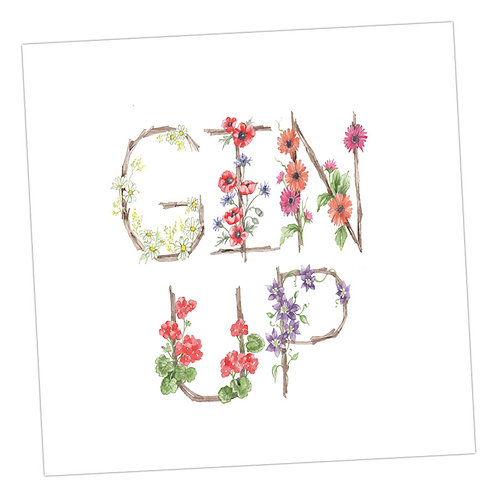 Floral Letters Gin Up