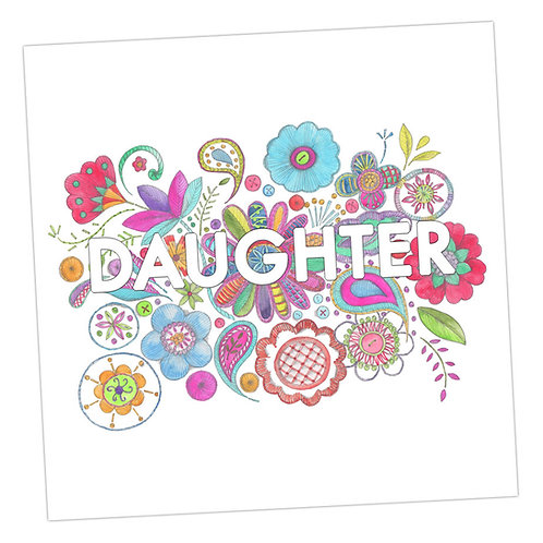 Embroidered Daughter Card