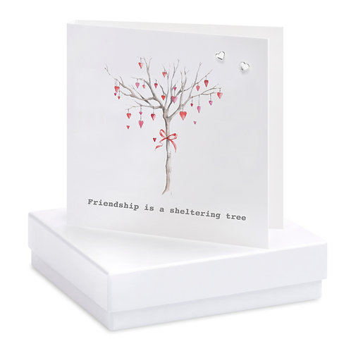 Boxed Heart Tree Earring Card