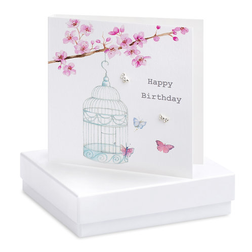 Boxed Birdcage Earring Card