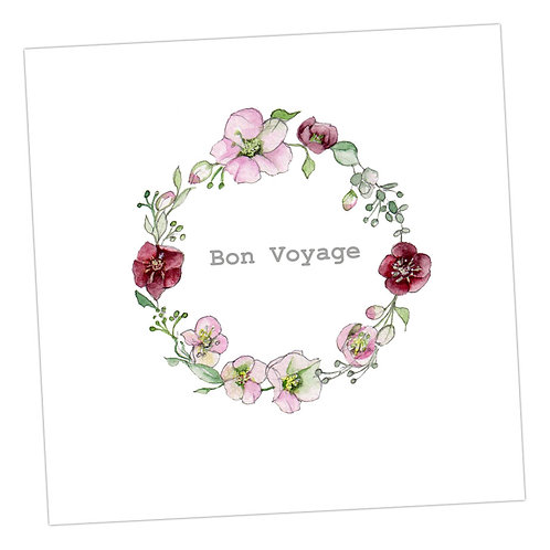 Bon Voyage Wreath Card
