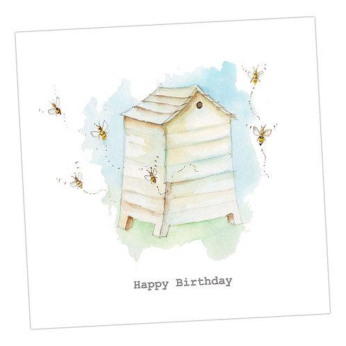 Beehive Birthday Card