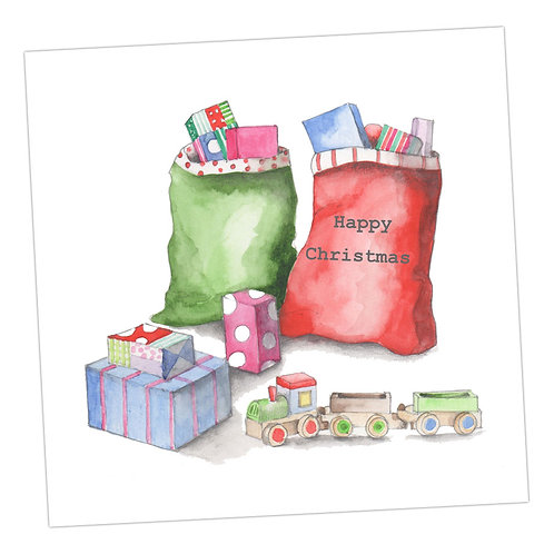 Santa Sack Christmas Card