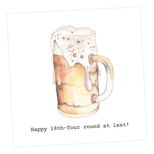 Beer 18th Card