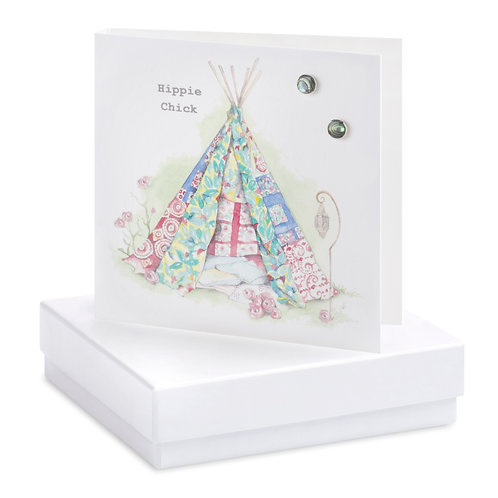 Boxed Earring Card Festival Tent Festival Babe