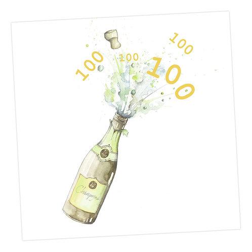 Champagne 100th Card