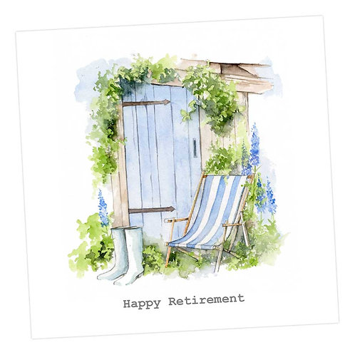 Blue Shed with Deckchair Card