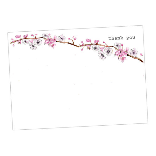 Pink Blossom Note Cards
