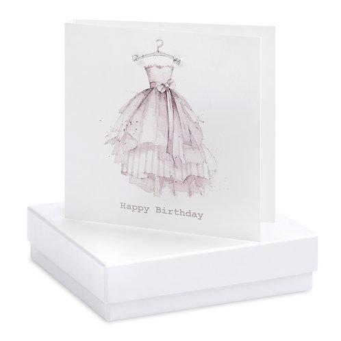Boxed Birthday Dress Earring Card