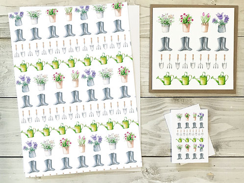 Garden Gift Wrap & Tag Pack