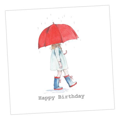 Singing in the Rain Birthday Card