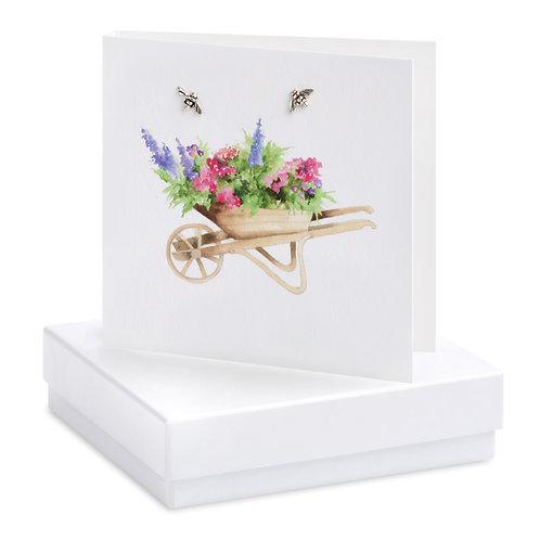 Boxed Wheelbarrow Earring Card