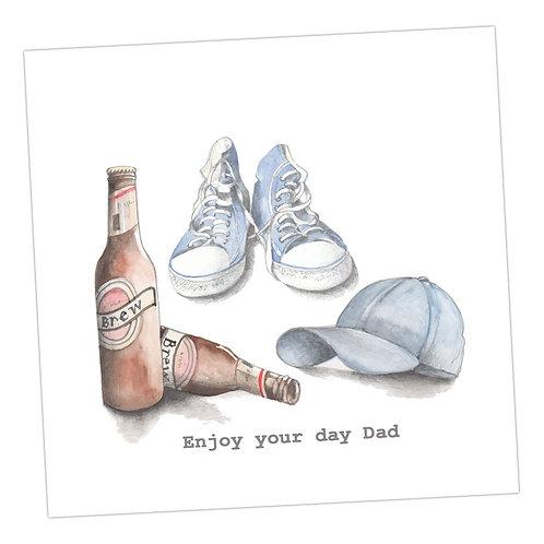 Beer etc Enjoy your day Dad Card