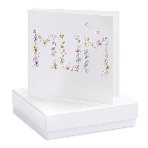 Boxed Mum Earring Card