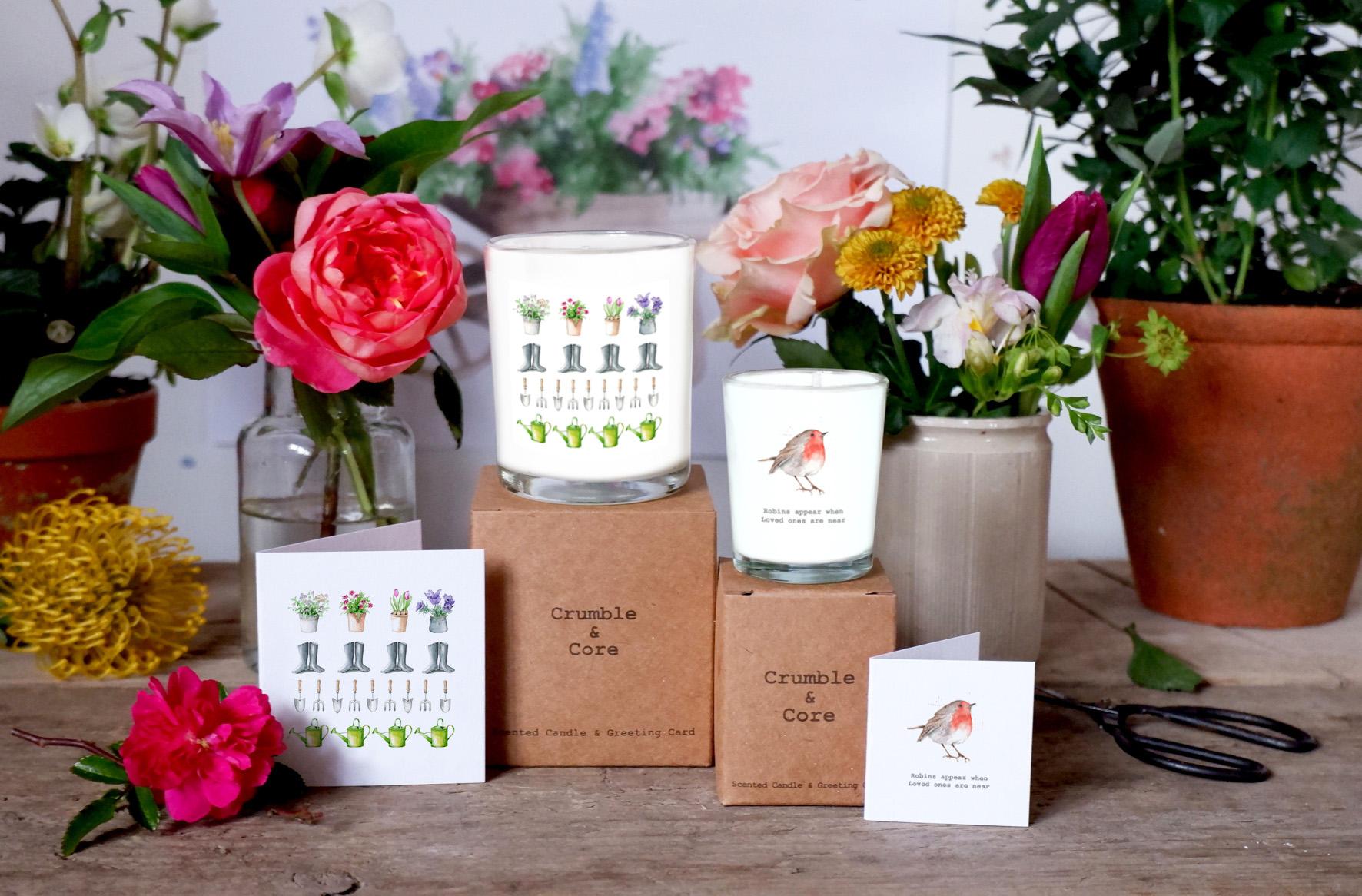 garden-robin-candles-cards