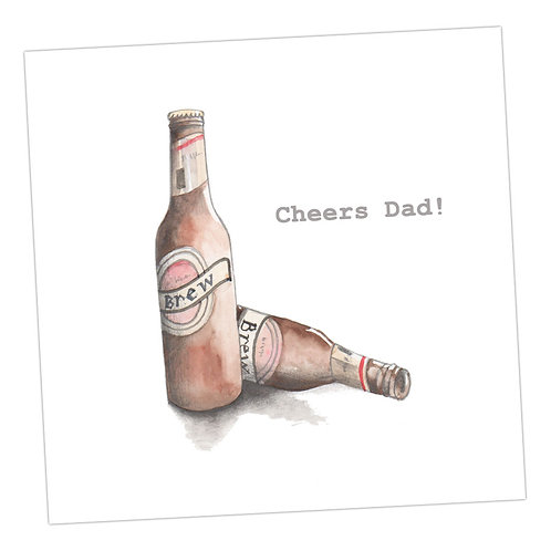Beers, Cheers Dad ! Card