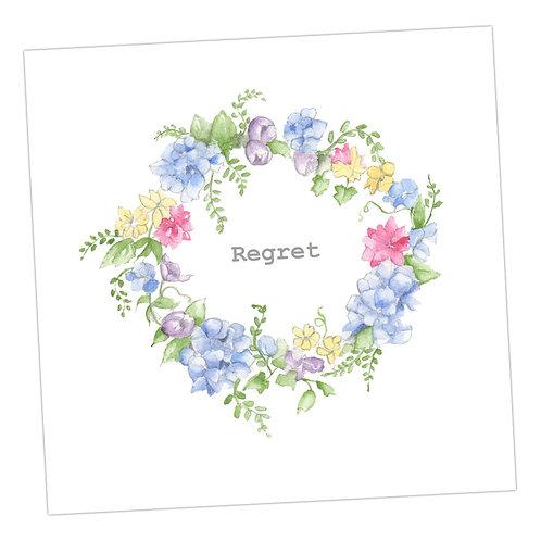 Hydrangea Wreath Regret Card