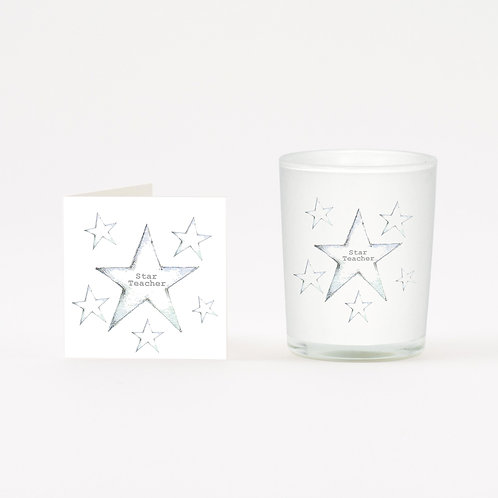 Superstar Boxed Candle & Card