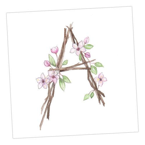 Floral Letters A