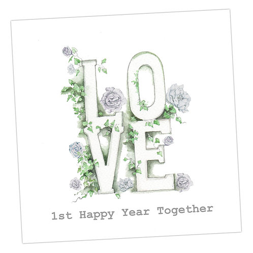 Love Letters 1st Anniversary Card