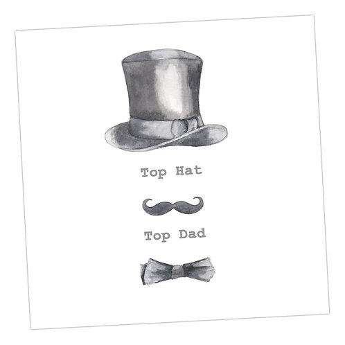 Top Hat, Top Dad Card
