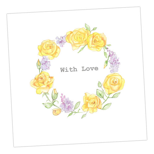 With Love Floral Rose Wreath