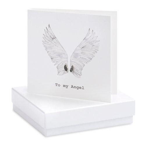 Boxed Angel Wings Earring Card