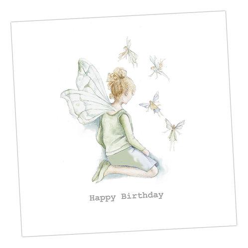 Tiny Fairies Birthday Card
