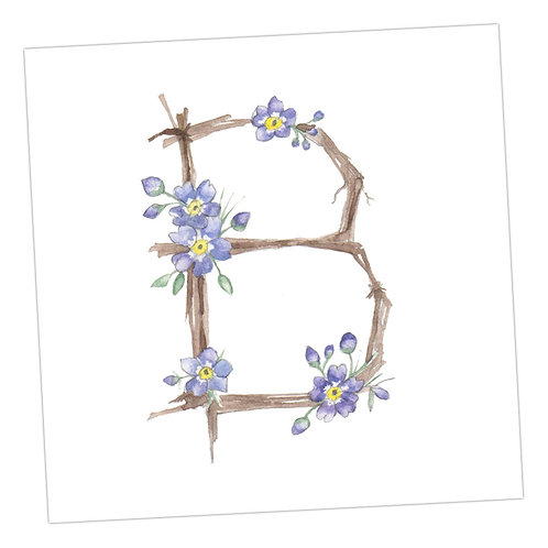 Floral Letters B