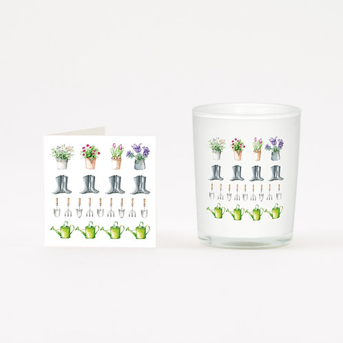 Multi Garden Boxed Candle & Card