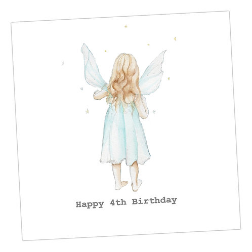 Fairy 4th Birthday Card