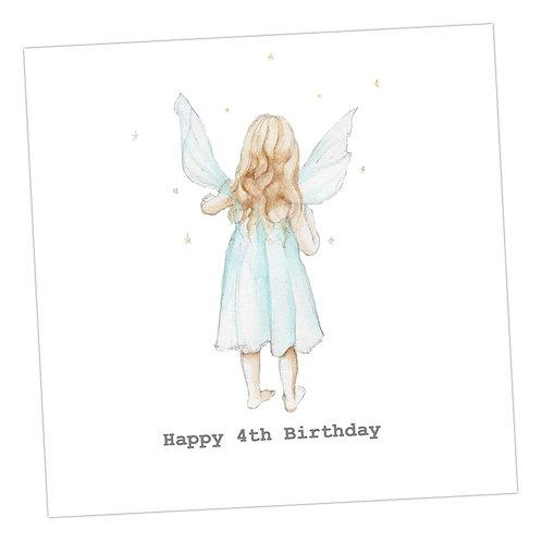 Fairy 4th Birthday Card