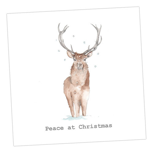 Deer Peace Christmas Card