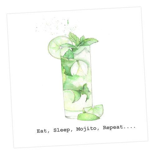Eat, Sleep, Mojito, Repeat Card