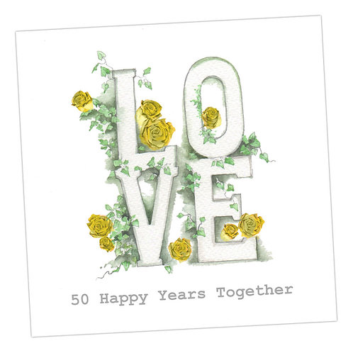 Love Letters 50th Anniversary Card