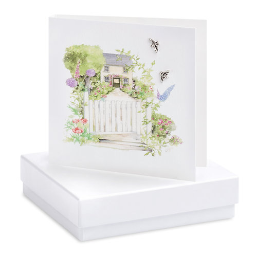 Boxed House Earring Card