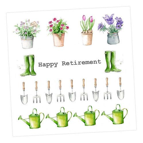 Gardening Retirement Card