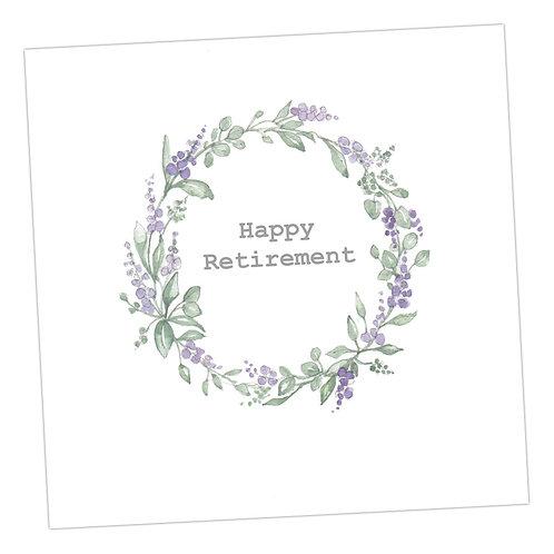 Retirement Wreath Card