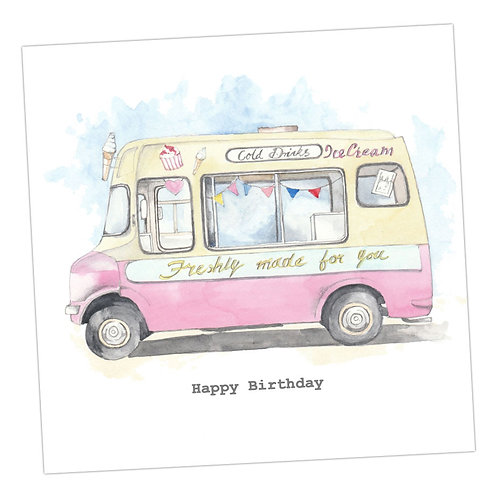 Ice-Cream Van Card