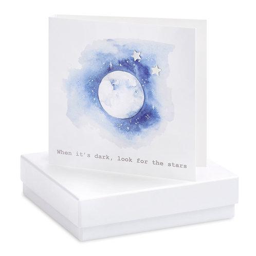 Boxed Moon & Stars Earring Card