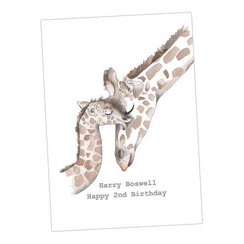 Giraffes Personalised Print
