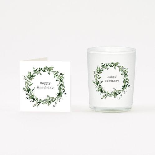 Birthday Eucalyptus Boxed Candle & Card