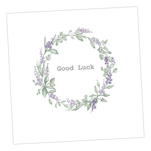 Good Luck Wreath Card