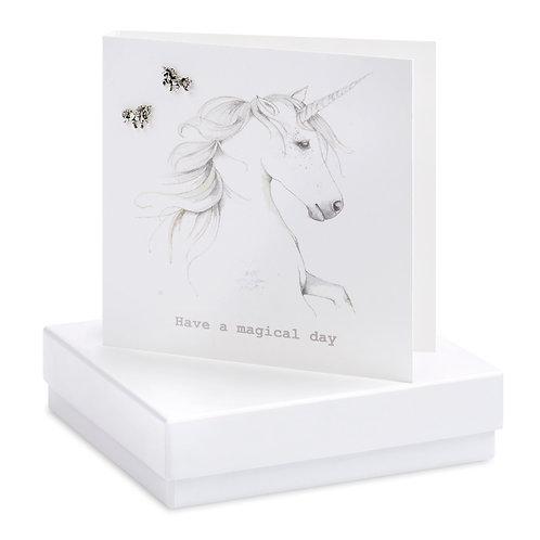 Boxed Unicorn Earring Card