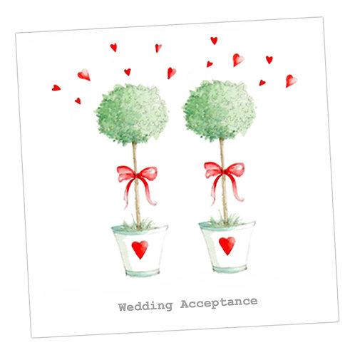 Wedding Sign Acceptance Card