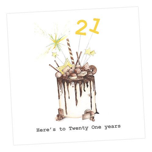 Choccie Woccie Cake 21st Card