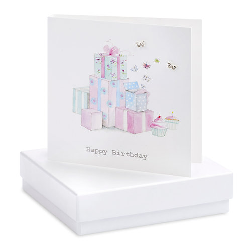 Boxed Birthday Presents Earring Card
